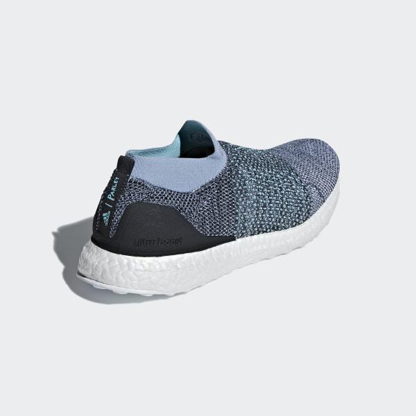 buy online fb579 367ac Ultraboost Laceless Parley Skor Raw Grey   Carbon   Blue Spirit CM8271