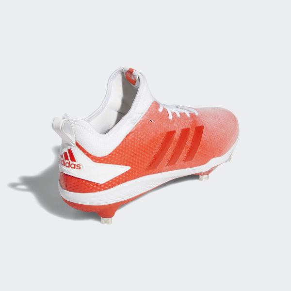 bdf1e310503 Adizero Afterburner V Splash Cleats Cloud White   Hi-Res Red   Cloud White  B76036