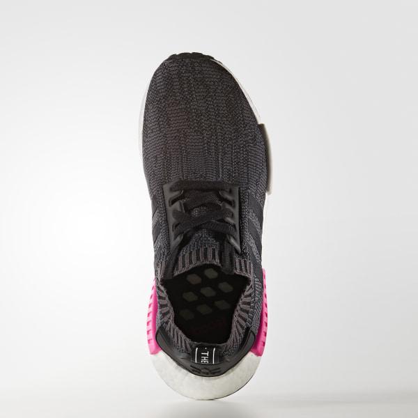 915663d07eff0 NMD R1 Shoes Core Black   Core Black   Shock Pink BB2364