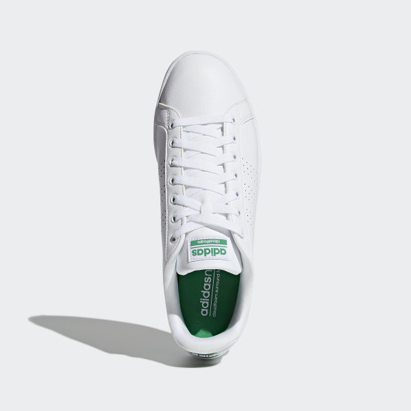 new arrival 0625a c9453 Cloudfoam Advantage Clean Shoes Cloud White   Cloud White   Green AW3914