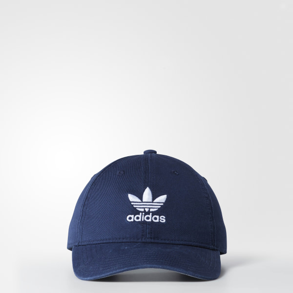 b3f8bada174 Originals Relaxed Strap-Back Hat Collegiate Navy   White BH7136