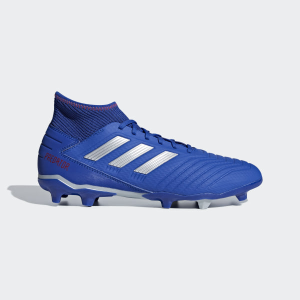 aada4657babac1 Predator 19.3 Firm Ground Cleats Bold Blue   Silver Metallic   Active Red  BB8112