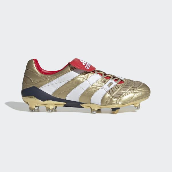 new style 12a40 79f88 Bota de fútbol Predator Accelerator Zinédine Zidane césped natural seco  Gold Met.   Ftwr White