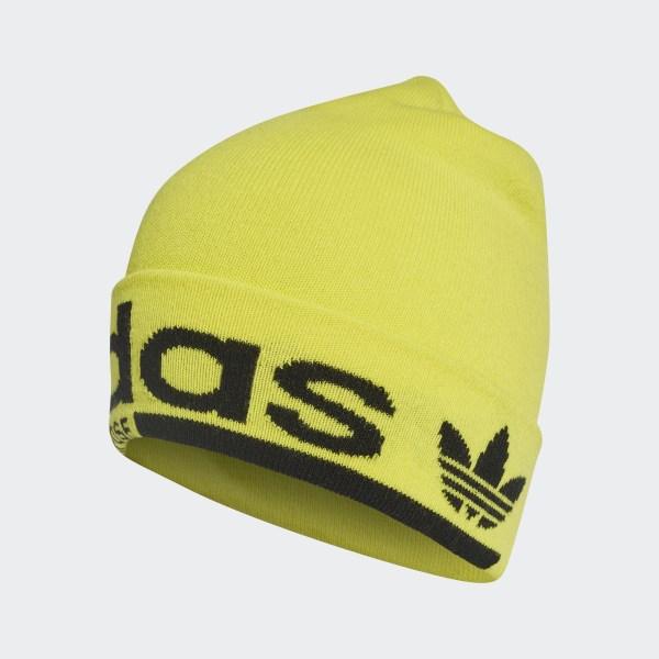 adidas Logo Beanie - Yellow  cd868ad50867