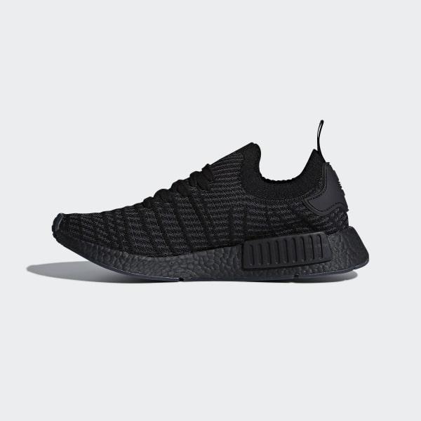 244414555db NMD R1 STLT Primeknit Shoes Core Black   Utility Black   Solar Pink CQ2391