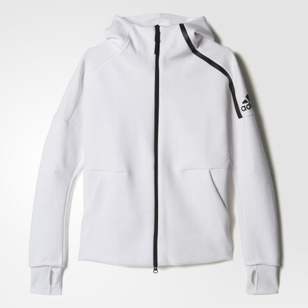Polerón con Capucha adidas Z.N.E. - Blanco adidas  8c8a3386b745c