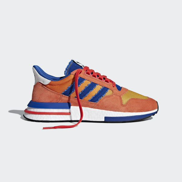 45e2c9207 Dragonball Z ZX 500 RM Shoes Orange   Collegiate Royal   Hi-Res Red D97046