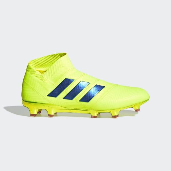 1232263a8361 Nemeziz 18+ Firm Ground Boots Solar Yellow   Football Blue   Active Red  BB9420