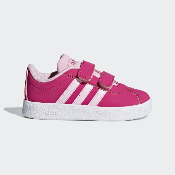 ab41a9c54f Tênis VL Court 2.0 Real Magenta   True Pink   Ftwr White F36406