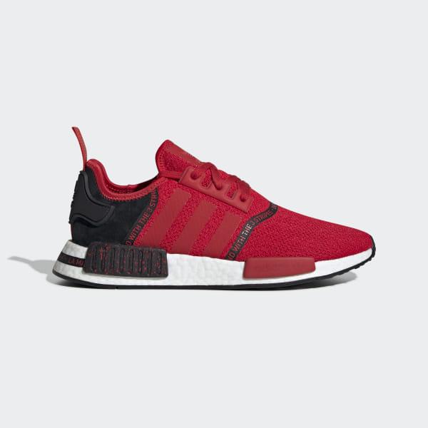 59dc6a33c2855 NMD R1 Shoes Scarlet   Scarlet   Core Black EF3327