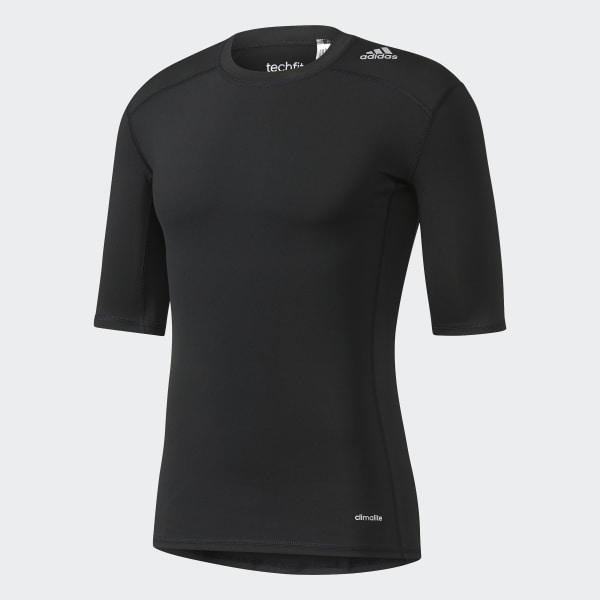 adidas Playera Techfit Base - Negro  966f82c6a3728
