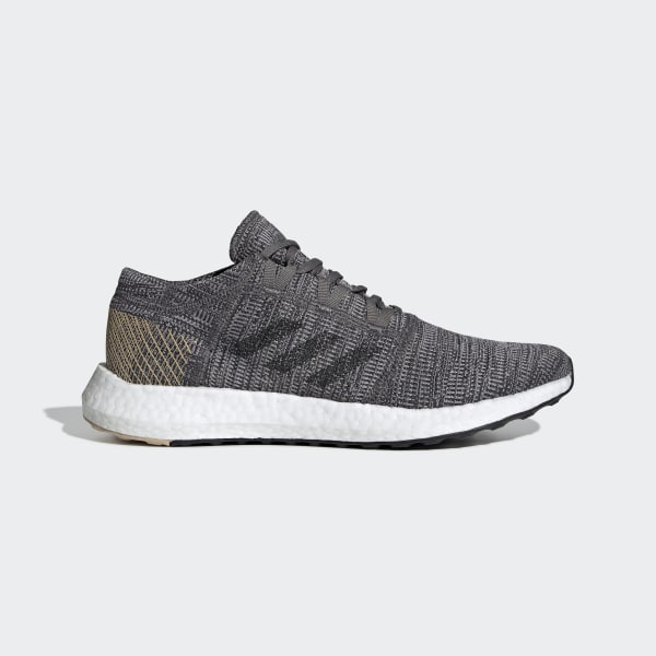 best service 1e2e9 75739 Pureboost Go Shoes Grey   Core Black   Pale Nude B37806