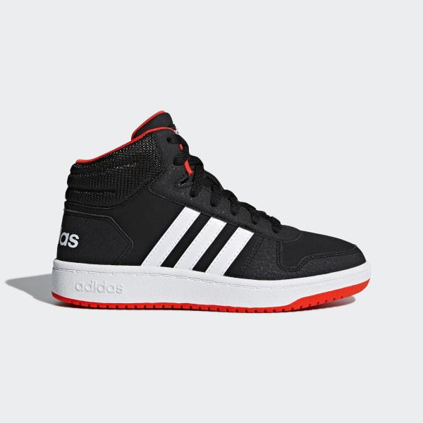 Hoops 2.0 Mid Shoes Core Black   Cloud White   Hi-Res Red B75743 9d0edcd0a6f