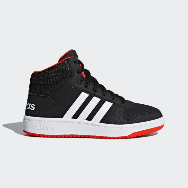 on sale 45a28 13750 Scarpe Hoops 2.0 Mid Core Black   Ftwr White   Hi-Res Red B75743