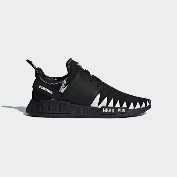 8f49d0286b044 NEIGHBORHOOD NMD R1 PK Shoes Core Black   Core Black   Cloud White DA8835