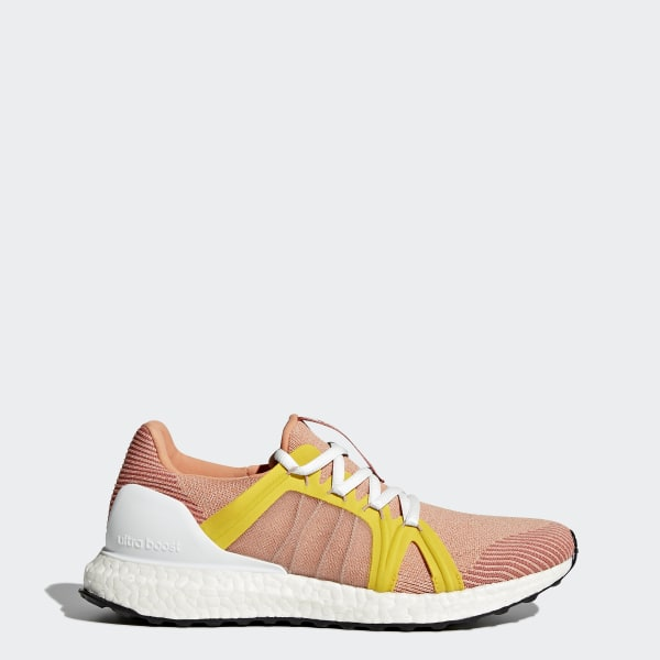 0a80737a4243 Ultra Boost Shoes Apricot Rose   Pearl Rose   Super Yellow CG3684