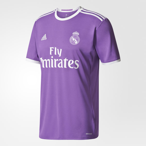 new concept f960e 1003d Real Madrid Away Jersey Ray Purple Crystal White AI5158