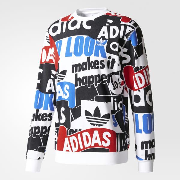 a1f60f26239c1 adidas Buzo Loud Print - Blanco