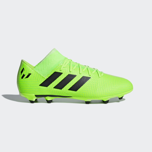 Calzado de Fútbol Nemeziz Messi 18.3 Terreno Firme SOLAR GREEN CORE  BLACK SOLAR GREEN a3877de48f71d