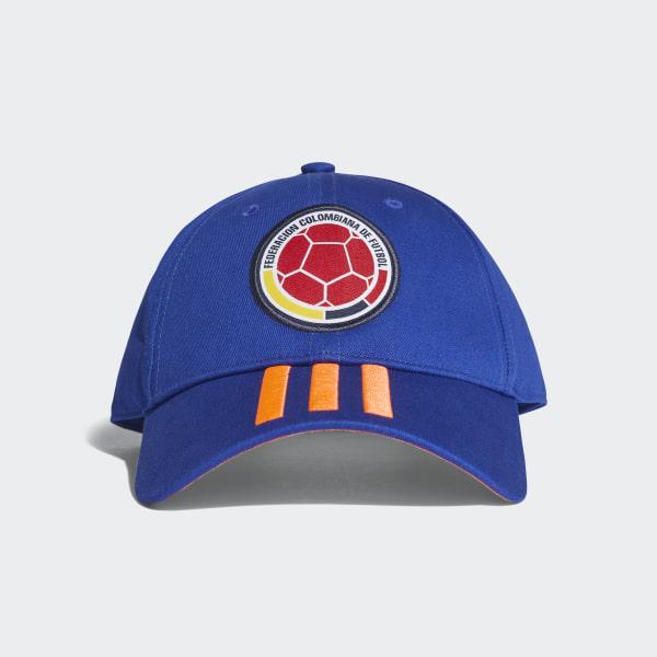 Gorra 3 Rayas Selección Colombia 2018 BOLD BLUE SOLAR RED CF5209 2ed30e7597a