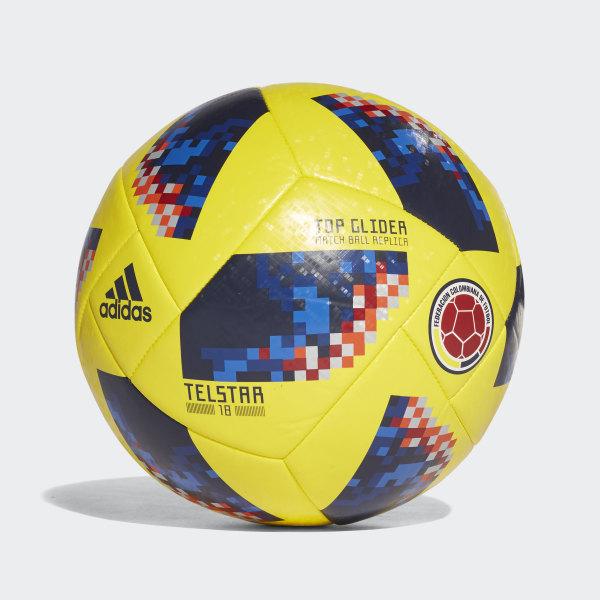 77e1e8d8f3e39 Balón Copa Mundial de la FIFA Selección Colombia 2018 BRIGHT  YELLOW COLLEGIATE NAVY CE9969