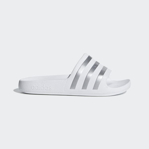 828e20c0df4b14 adidas Adilette Aqua Slides - White