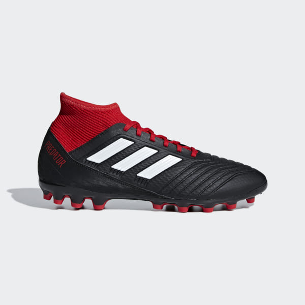 138684bae87 Bota de fútbol Predator 18.3 césped artificial Core Black   Ftwr White    Red BB7747
