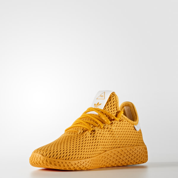 2404fcdd8 Pharrell Williams Tennis Hu Shoes Collegiate Gold   Collegiate Gold   Cloud  White CP9808