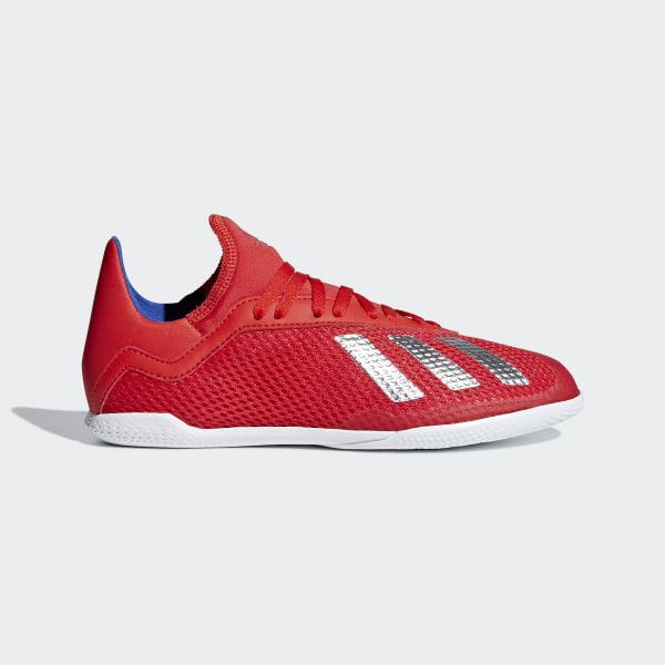 54c69610c32ad Chuteira X Tango 18.3 Futsal Active Red   Silver Met.   Bold Blue BB9396