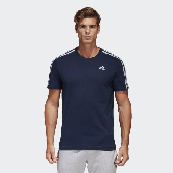 Camiseta Essentials Classics 3 bandas Collegiate Navy B47359 7575db8f280
