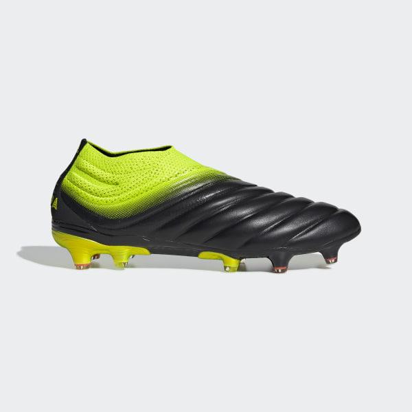 e205adfe2cae3 Calzado de Fútbol Copa 19+ Terreno Firme Core Black   Solar Yellow   Core  Black
