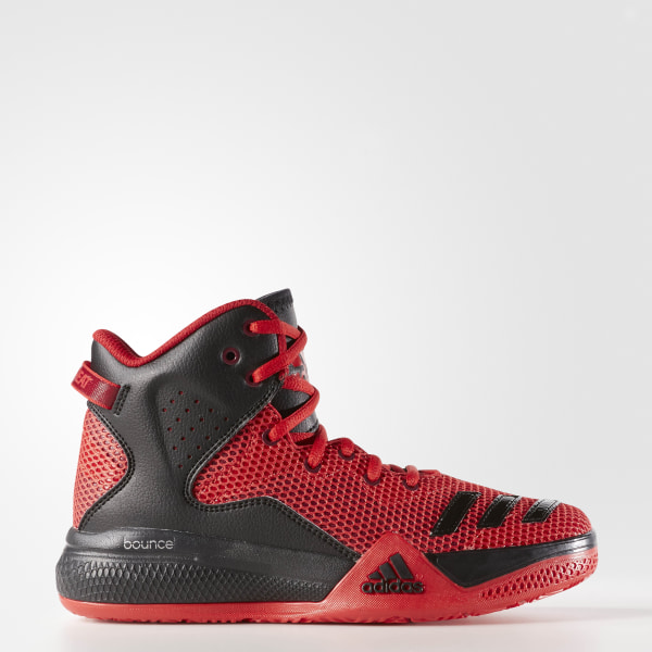 adidas Youth DT BBall Mid Shoes - Red  104544ee5