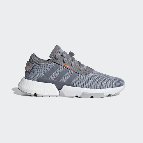 f3862d469c3f POD-S3.1 Shoes Grey Three   Grey Three   Solar Orange B37365