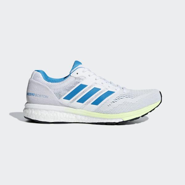 on sale 2641f 05ca2 Adizero Boston 7 Shoes. C 80C 160. Color Cloud White  Shock Cyan  Hi-Res  Yellow