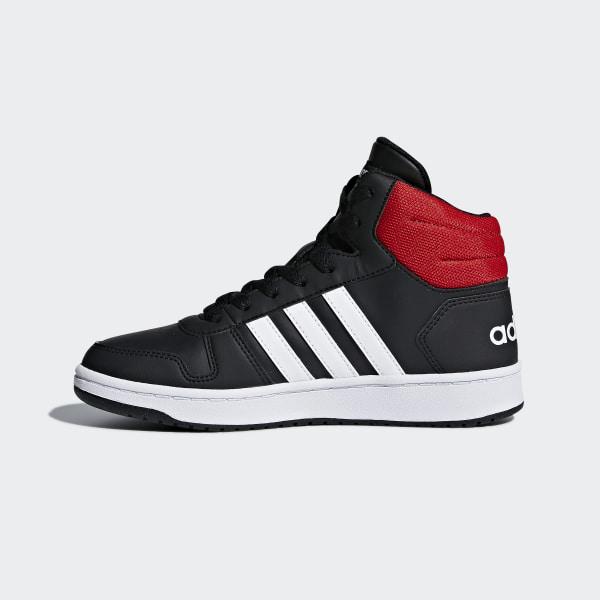 Hoops 2.0 Mid Shoes Core Black   Cloud White   Bright Blue DB1483 ad8034553b3dd