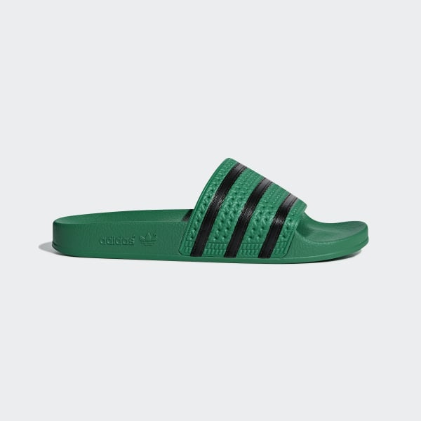 8ffd8d0e9a40 Adilette Slides Bold Green   Core Black   Bold Green CM8443
