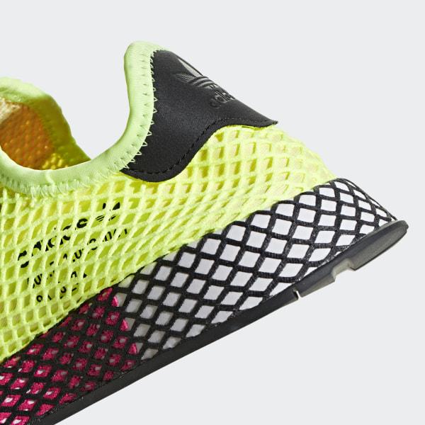 069a1530f Deerupt Runner Shoes Hi-Res Yellow   Core Black   Shock Pink CG5943