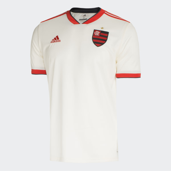 edf23758d64 Camisa CR Flamengo 2 Oficial CHALK WHITE HI-RES RED S18 CARBON S18