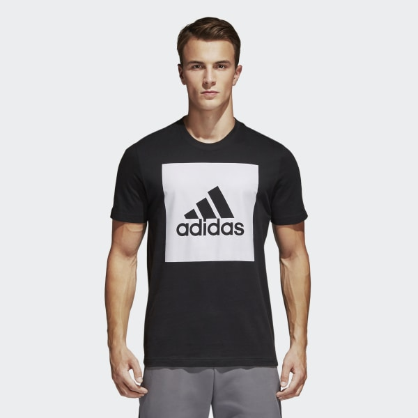 80a09a0f220 Camiseta Essentials Box Logo - Preto adidas