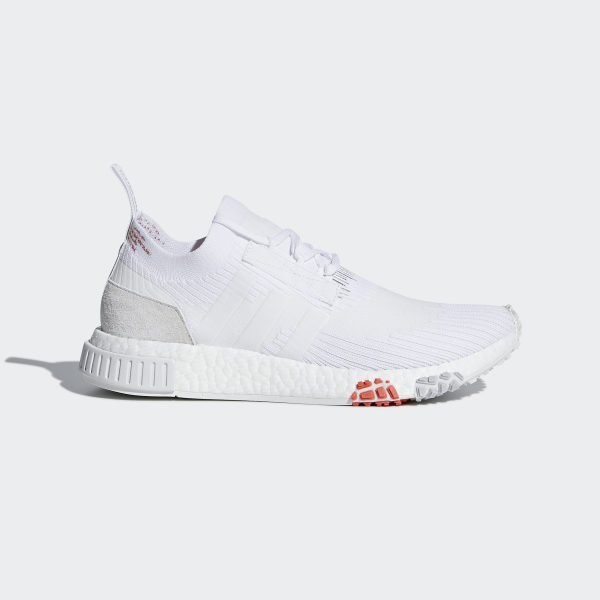 timeless design 0fddb 7bc17 NMDRacer Primeknit Shoes Cloud White  Cloud White  Trace Scarlet CQ2033