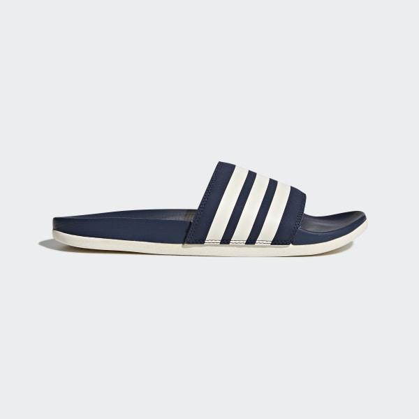 41aa58d64 adidas Adilette Cloudfoam Plus Stripes Slides - Blue