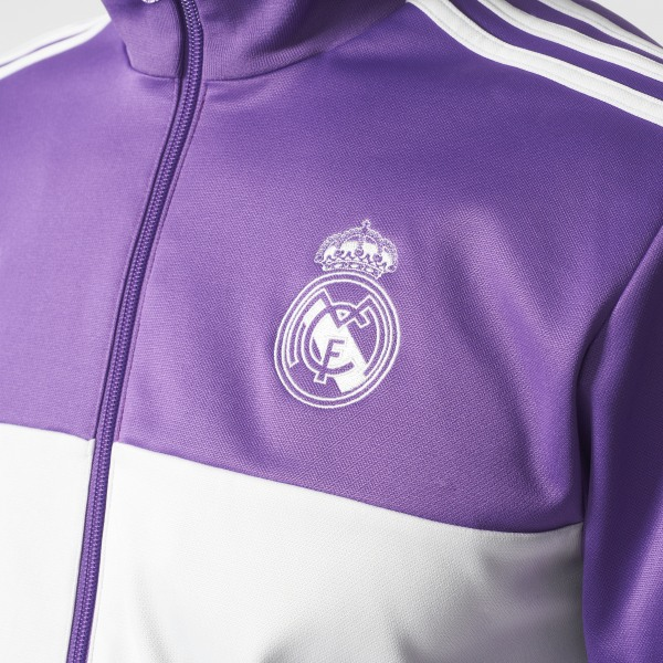 huge discount 8fdcc 8ed1d Real Madrid 3-Stripes Track Jacket Ray Purple   Crystal White AZ5354