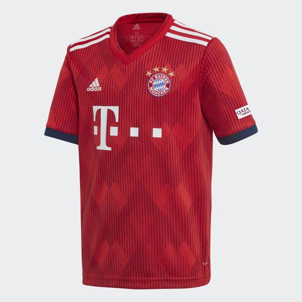 Camiseta de Local FC Bayern 2018 FCB TRUE RED STRONG RED WHITE CF5429 1e1e8fa7f9585