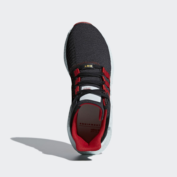 best sneakers a7002 ccb1a EQT Support 9317 Yuanxiao Shoes CarbonCore BlackScarlet DB2571