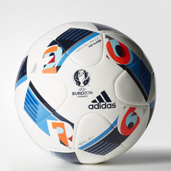 UEFA EURO 2016™ Top Glide Soccer Ball White   Bright Blue   Night Indigo  AC5448 e0636e72abe30