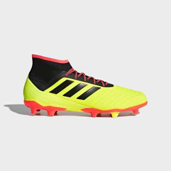 429accf6d3af7 Zapatos de Fútbol Predator 18.2 Terreno Firme SOLAR YELLOW CORE BLACK SOLAR  RED DB1997
