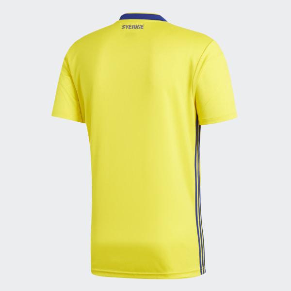 47a9cbebcb384 Camiseta Oficial Selección de Suecia Local 2018 YELLOW MYSTERY INK F17  BR3838