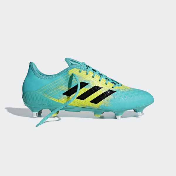 8675367cb25c26 Predator Malice Control Soft Ground Boots Hi-Res Aqua   Core Black   Shock  Yellow