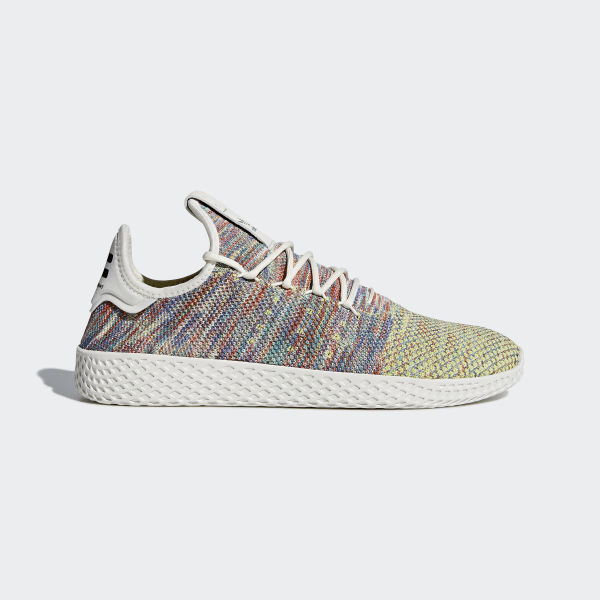 480f3495184941 Pharrell Williams Tennis Hu Primeknit Shoes Multi Chalk White Core Black  CQ2631