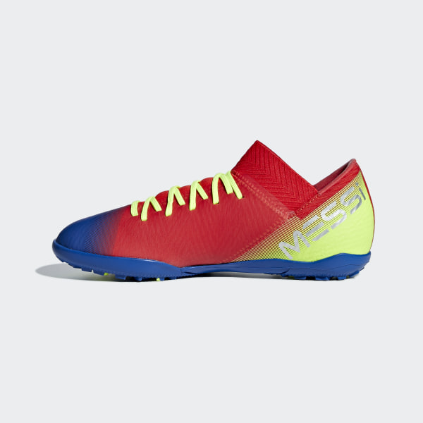Nemeziz Messi Tango 18.3 Turf Shoes Active Red   Silver Metallic   Football  Blue CM8636 1e090d565